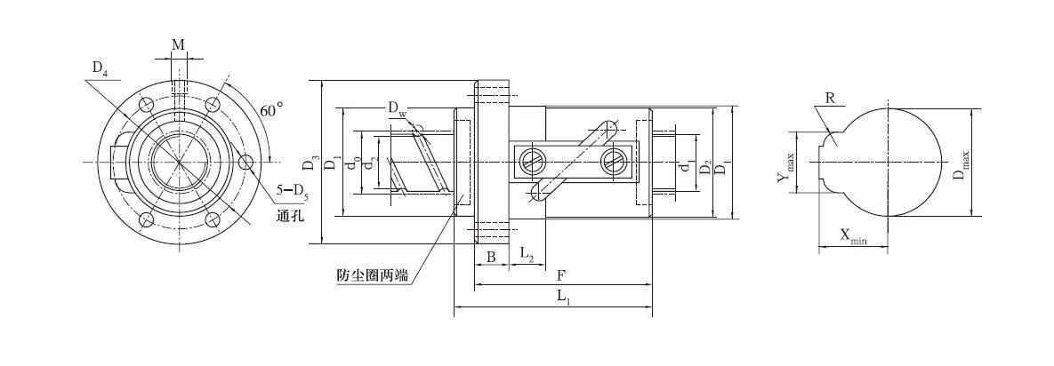 DGF2020-0.8x4滚珠丝杠